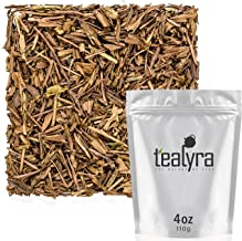 Tealyra - Hojicha Roasted Green Tea - Japanese Loose Leaf Tea - High Antioxidants - Low Caffeine - 110g (4-ounce)