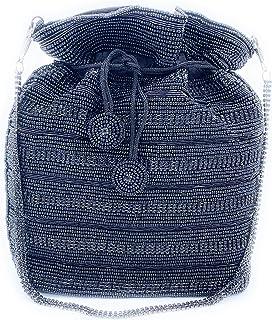 WOMEN'S DESIGNER ELEGANT ROYAL HANDMADE POTLI BAG/HANDBAG/PURSE/CLUTCH BAG ADORA ACI 090 BLACK