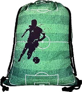 Mochila niñas y niños - con Dibujos de fútbol - se Puede Lavar a máquina - 40x32 cm - para el la Escuela, para Hacer Deporte - Mochila, zapatillero, Bolso, Bolsa de Deporte para fútbol