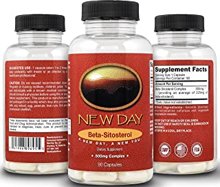 Sponsored Ad - New Day Health | Pure Beta Sitosterol Natural Prostate Support Supplement - 90 Capsules, 500mg Complex | Na...