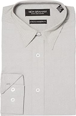Nick Graham - Micro Dot Print Stretch Shirt