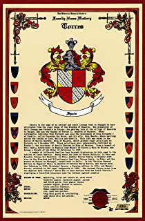 Torres Coat of Arms/Crest and Family Name History, meaning & origin plus Genealogy/Family Tree Research aid to help find clues to ancestry, roots, namesakes and ancestors plus many other surnames at the Historical Research Center Store