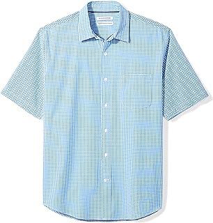 Amazon Essentials مردان معمولی مناسب کوتاه آستین Plaid Casual پیراهن پوپلین