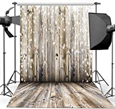 Dudaacvt 8x8Ft Photography Backdrop Vinyl Grey Wood Floor & Wall Photography Background Paper Studio Props M0010808