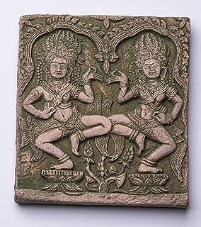"Aditri Creation Sand Stone Decorative Figurine Statue Sculpture Plaque Dancing Pair Size :- 4""X4""X0.4"""