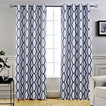 Best blue and white trellis curtains Reviews