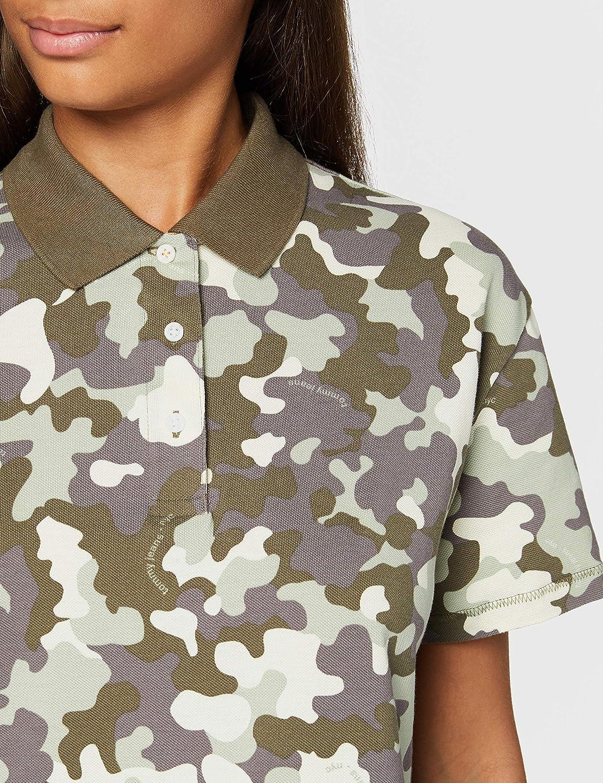 Tommy Jeans Damen Tjw Camo Polo Poloshirt