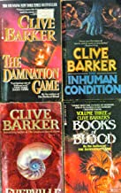Four Clive Barker Books - Books of Blood; The Inhuman Condition; Everville; The Damnation Game