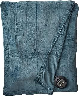 Sunbeam Heated Blanket | Microplush, 10 Heat Settings, Lagoon Blue, Full - BSM9KFS-R531-16A00