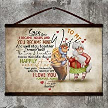 Zcocos Family Canvas Poster to My Wife We'll Stay Together Happily Ever After Thank You i Love You Forever & Always Love Your Husband