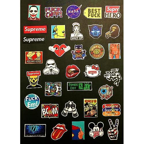 Lots of 100pcs SKI Snowboard Skateboard Surf Suitcase Vinyl Sticker Logo Decal