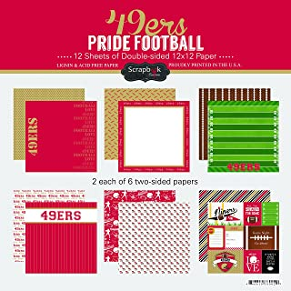 Scrapbook Customs 49ers Pride Football Scrapbook Kit