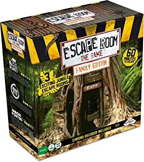 Escape Room The Game, Family Edition - with 3 Exciting Jungle Escape Rooms | Solve The Mystery Board Game for Family, Kids...