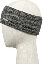 LUNA & TERRA-CATANIA Headband Handmade Knit 100% BABY ALPACA (Oxford Grey)