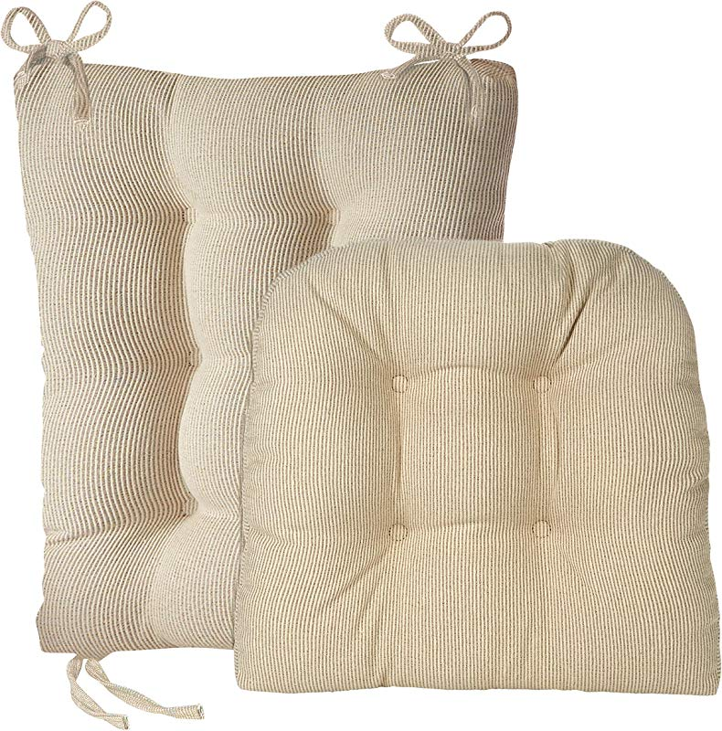 Klear Vu Gripper Jumbo Saturn Rocking Chair Cushion Set Natural