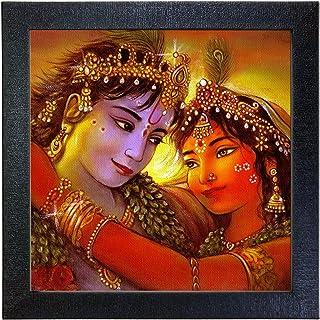 Sehaz Artworks 'Radha Krishna' Wall Photo Painting (Carbon Fiber, 30 cm x 30 cm x 3 cm, Black SZA-Radha_Krishna_003)