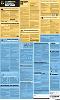Safety Supply Mart California State and Federal Labor Law All-in-One Poster, 27 x 44 inches, UV Coated Paper (Spanish)