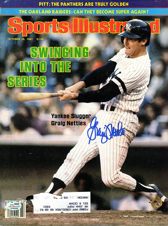 Graig Nettles Autographed October supreme 26 Sale Sports Ya Illustrated 1981