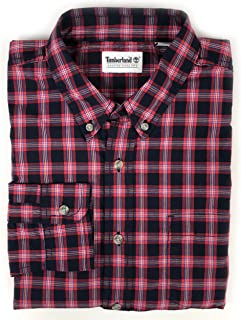 Men's Long Sleeve Gale River Madras Check Button Up Shirt