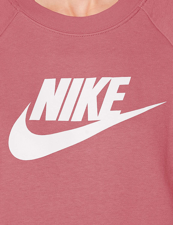 Nike W Nsw Essntl Crew Flc Hbr T-shirt A Manica Lunga Donna