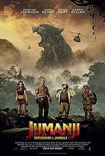 Jumanji Welcome to the Jungle Movie Poster Limited Print Photo Dwayne Johnson, Karen Gillan, Kevin Hart Jack Black Size 11x17 #1