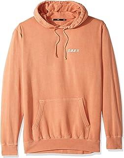 OBEY Men's O.b.e.y. Basic Pullover Hood Fleece Sweatshirt, Dusty