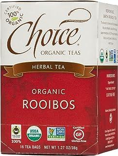 Choice Organic Teas Caffeine Free Herbal Tea, Rooibos, 16 Count