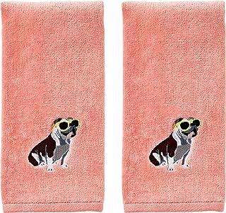 SKL Home by Saturday Knight Ltd. Dog Sun Gl Hand Towel, Coral Pink