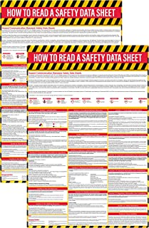 How to Read A Safety Data Sheet (SDS/MSDS) Poster (2 Pack), 24 x 36 Inch, UV Coated Paper, OSHA Compliant