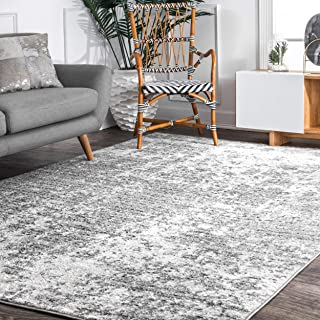 nuLOOM 200BDSM08A-508 Misty Shades Deedra Area Rug, 5' x 8', Grey, Gray