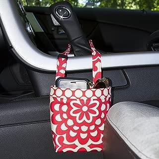 Car Cellphone Caddy, Amy Butler Cherry Lotus, Customizable, Sunglasses Car Holder, Mobile Accessory, Cellphone Holder, Golf Cart Holder, Beach Chair Bag, Pool Chair Bag