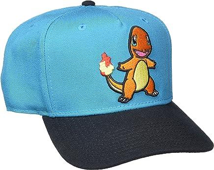 76e41e53db5da BIOWORLD Pokemon Charmander Embroidered Blue Snapback Cap Hat