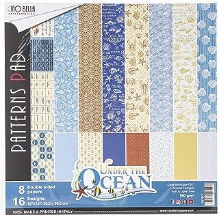 """CIAO BELLA PAPER PAPR PCK 12"""" 8/PKG, us:one size, Under the Ocean, 8 Designs/1 Each"""