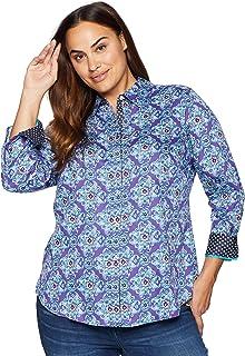 861206ecc52 Amazon.com  Foxcroft - Blouses   Button-Down Shirts   Tops   Tees ...