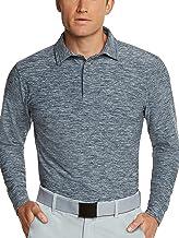Men's Dry Fit Long Sleeve Golf Shirt - Quick Dry Polo Shirts - UPF 30, Stretch Fabric