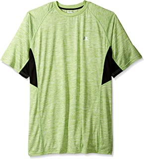 Russell Athletic Men's Big and Tall Ss Poly Crew Weave with Contrast Insert
