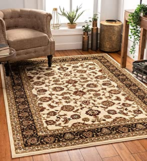 Noble Sarouk Ivory Persian Floral Oriental Formal Traditional Area Rug 8x10 8x11 ( 7'10