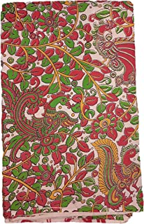 Stunning Collections Kalamkari Printed Cotton Unstitched Blouse, Kurthi, Long Frock Fabric Material for Women