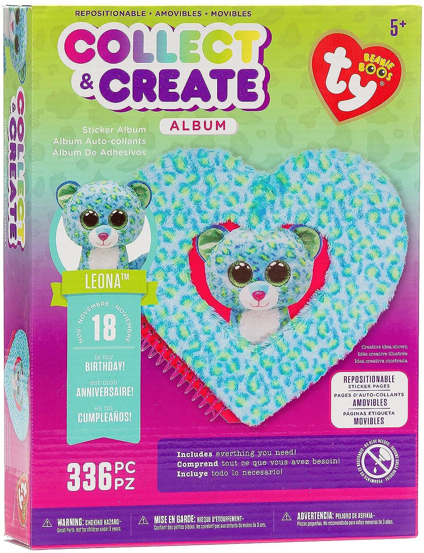 Darice TY Beanie Boo Leopard Sticker Album