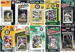 C&I 收藏版 MLB 奥克兰运动家队 男式 10 种不同的*交易卡队套装,白色