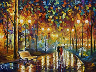Evermarket Wooden Jigsaw Puzzles 1000 Pieces for Adults,Scenery Landscape Jigsaw Puzzles,Entertainment DIY for Creative Gift Home Decor,Rainy Night Walk