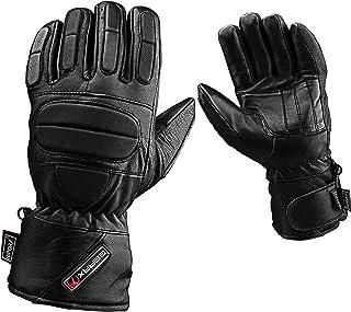 XL Inverno Pelle motocicletta Guanti riflessivo Impermeabile Imbottito Termico