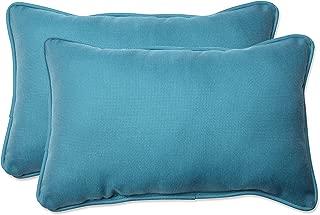 Pillow Perfect Outdoor/Indoor Tweed Rectangular Throw Pillow (Set of 2), Aqua