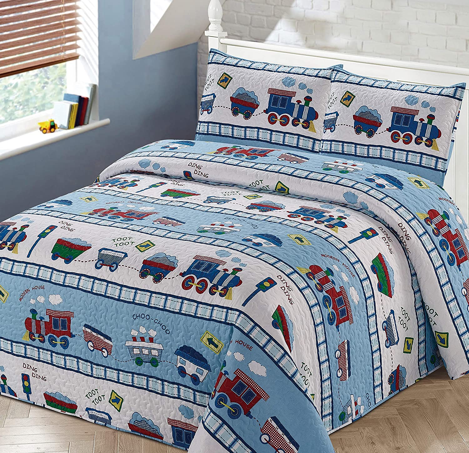 Better Memphis Mall Home Style Red White Cash special price and Railroad Train Blue Choo Tr