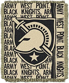 The Northwest Company Officially Licensed NCAA Army Black Knights Double Play Triple Woven Jacquard Throw Blanket, 48