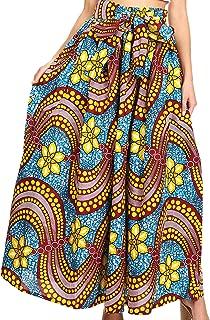 Asma Convertible Traditional Wax Print Adjustable Strap Maxi Skirt | Dress