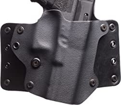 Black Point Tactical Leather Wing OWB Holster Fits Glock 43, Right Hand, Black