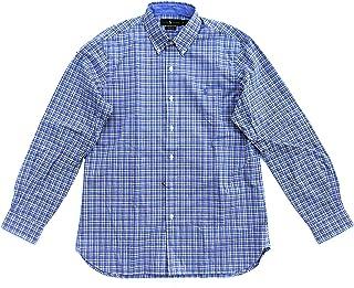 abcef784 Polo Ralph Lauren Men's Stretch Plaid Poplin Long-Sleeve Woven Shirt  (Blue/Grey