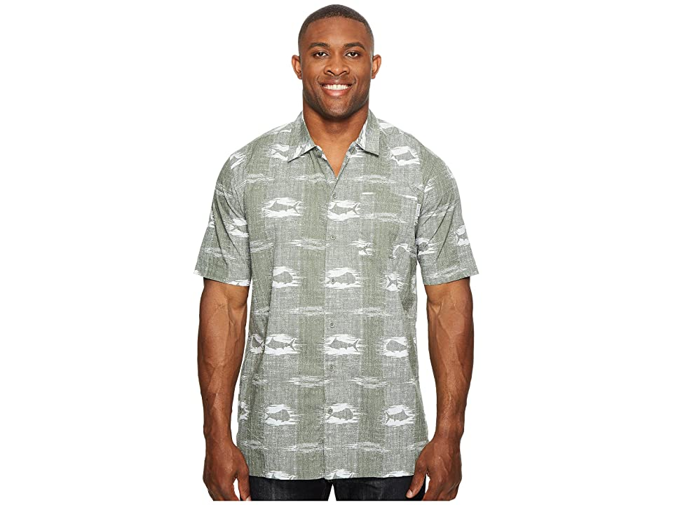 Columbia Big Tall Trollers Best Short Sleeve Shirt (Cypress Ikat Fish) Men