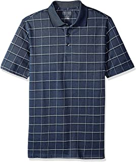 Van Heusen Men's Big and Tall Short Sleeve Windowpane Polo Shirt